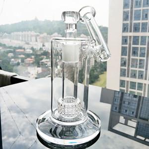 Novo 22.5cm Tall Matrix Sidecar Bongo Birdcage Percácio Petróleo Petróleo Espessura Tubulação de Água de Fumar Tubulação Size18,8mm