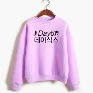 VSENFO Day6 Hangul Kpop Hoodie Uzun Kollu Sonbahar Kış Sıcak Kazak Harajuku Kore Moda Kadın Giyim