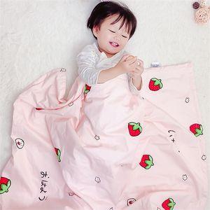 Хлопковое детское одеяло Baby Comfort Booket Coveration Coit Coit Child Удерживайте одеяло Коляска крышка W1218