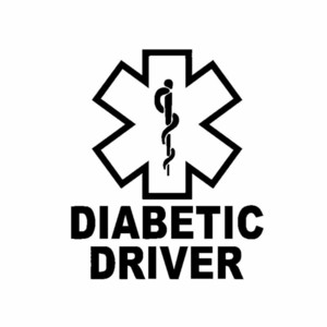 11CM*13CM Funny DIABETIC DRIVER Car-styling Waterproof Decal Car Sticker Vinyl Accessories C11-1642