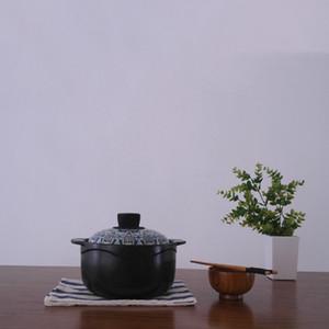 Cocina resistente al calor Hogar Nutrición y salud Pot Sopa Casserole de cerámica Juego de utensilios de cocina Stef Pot Hogar High Tempere Pot