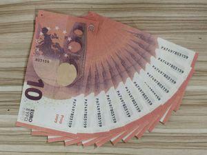 10 Euros más realista Prop Copy Diny Club de noche Play Play Play Money Bank New Business Fake Paper Dinero para la colección 03