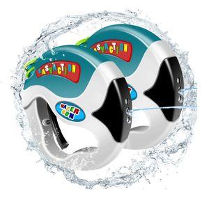 Toddler Water Gun Station Style Toys تم سحبها بواسطة 4 أصابع سهلة سحب الزناد مصممة لمدة 2-7 سنوات أطفال مجموعة من 2PCS
