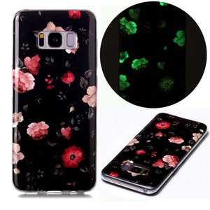 Handphone Cases for Samsung Galaxy S8 Made of Soft TPU Fluorescence after Light Absorption Dog Unicorn Flower Pattern(Model:S8)