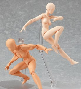 "5"" Figma Archetype He She PVC Action Figure Human Body Joints Male Female Nude Movable Dolls Anime Models Collections 13cm"