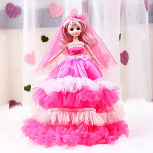 2020 New product new year gift Super size 45CM lovely pretty Barbie doll toy set girl Play house toy Joints can move