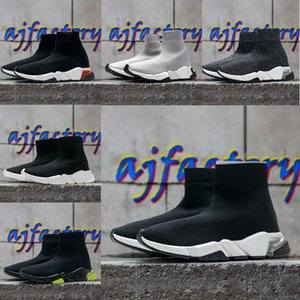 мужчины Triple S женщин скорость 2.0  натяжные насудительные инструменты носки сапоги носки носки черные ботинки спортивные туфли обувь balenciaga balenciaca balanciaga кроссовки