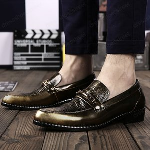 mens shoes casual leather luxury slip on driving adult fashion dress moccasins men loafers club party shoes men