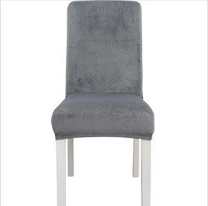 Chaise Chaise Spandex Solid Solid Chaise Soft Chair Couvre Élastic Chaise lavable Chaise Siège Couverture Screencovers Banquet Décorations de mariage GGB3469