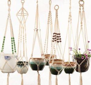 Appendiabiti intrecciata intrecciata piantatrice cestino cestino di sollevamento pianta flowerpot creativo giardino decorazione 11 disegni facoltativa Home Deco GWC4510