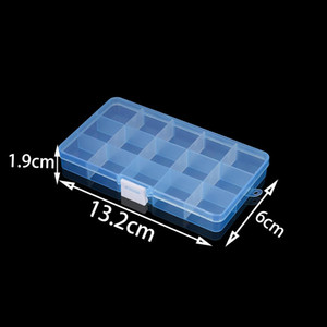 High Quality Grids Adjustable Plastic Jewelry Beads Storage Box Case Container Organize For Craft Jewelry Display Boxs Supplies bbyEwV
