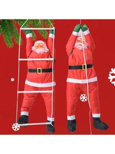 Christmas Pendant Ladder Rope Climbing Santa Claus Hanging Doll New Year Xmas Tree Fireplace Home Decoration J1209