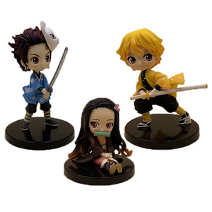 Kimetsu no Yaiba Figure Tanjirou Nezuko Inosuke figurine Anime Demon Slayer Action Figure Demon blade figures Model toys a3