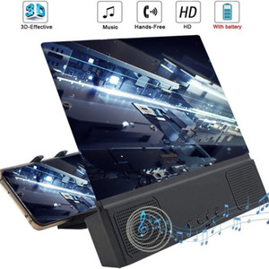 12 inch 3D HD Phone Screen Magnifier Desktop Bracket Movie Video With Wired Speaker For Smart Phone Expander Holder