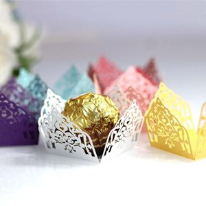 50pcs Laser Hollow Ferrero Chocolate Decorative Box Wedding Festival Celebration Party Cafeteria Desktop Decoration Candy Box