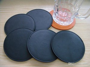 Pu Cup Mats Customizable Custom Coasters Insulation Bowl Pad Orange Black Professional Manufacturers Hot Sale 2cp V