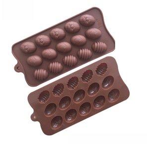 15 홀 부활절 달걀 초콜릿 금형 실리콘 폼 케이크 금형 Bakeware 베이킹 접시 고온 주방 케이크 액세서리