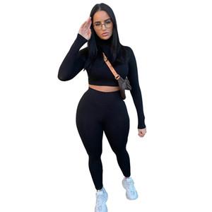 Ternos de 2 peças para mulheres - duas peças Sweatsuit pullover top + calças longas Tracksuit conjunto de macacos tamanho (s m l)