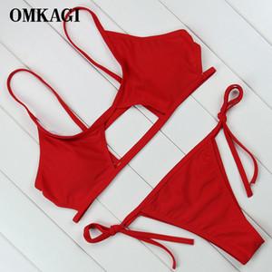Omkagi Brand New Swimwear Frauen Micro Bikinis Set Sexy Push Up Bikini Badeanzug Weibliche Badeanzug Badeanzug Beachwear Y1120