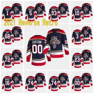Florida Panthers 2021 Reverse Retro Aleksander Barkov Jonathan Huberdeau Mike Hoffman Aaron Ekblad Vincent Trocheck Bobrovsky Jersey