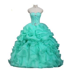 Quinceanera Dresses 2021 Ball Gown Beading Sweet 16 Dress Long Evening Party Prom Gown Vestidos De 15 Anos Custom Made QC1579