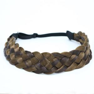 2.5cm New Arrival bohemian wigs braid thick wide headband popular fashion hair accessories