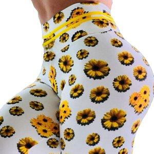 Yoga pants women Chrysanthemum Digital Printing Slim High Waist lift the hips Exercise Yoga Pants Leggings