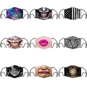 Tasarımcı Koruma Aptal Maske Dudaklar Doğruluk Temizle Pencere ile Görünür Pamuk Ağız Yüz Maskeleri Yıkanabilir ve Yeniden Olabilir Maske # 612
