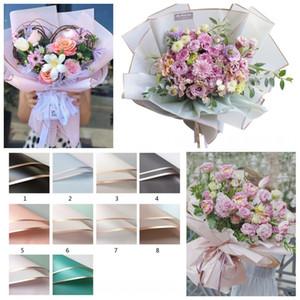 Florist Wrapping Paper 20pcs lot 58X58CM Flower Bouquet Waterproof Supplies Wedding Valentine Flower Bouquet Gift Wrap Decor DDF3573