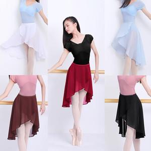 Ballet Skirt Women Adult Long Wrap Chiffon Skirt Ballet Tutu Skate Adjustable Buckles Ballerina Dance Wear