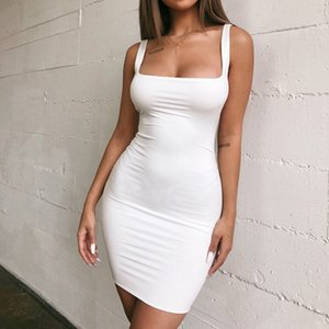 CDJLFH Yaz Kılıf Rahat 2019 Kadınlar Vintage Zarif Parti Vestidos Siyah Beyaz Bodycon Es Backless