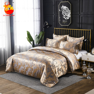 European Style Luxury Jacquard Bedding Three-piece Quilt Cover and Pillowcase Two-piece Quilt Cover Silk Soft Kit Z1126