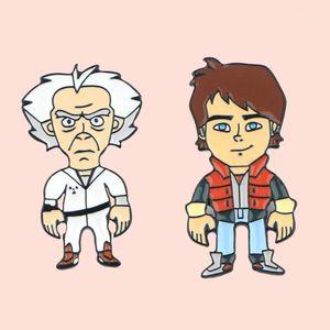ZF362 만화 미래의 보석 에나멜 핀과 브로치 만화 만화 크리 에이 티브 금속 데님 모자 배지 친구를위한 Kids1