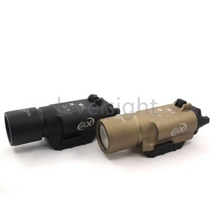 Белое светлое оружие, охота на охоту тактично X300 LED 500 люмен для Glocks Light Picatinny Rail Nato аксессуар железнодорожник черный загар