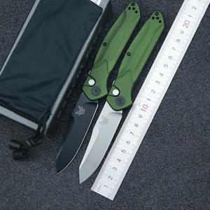 """BenchMade 9400 / 9400BK Osborne Auto складной нож 3.4 """"S30V черный / сатин равный лезвие, зеленые алюминиевые ручки BM 940 BM940 автоматический нож"""