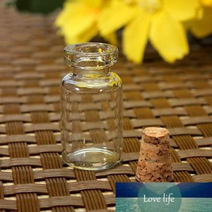 10PCS Empty Clear Small Glass Bottles Vials Container with Corks Jars 0.5 1 1.5 2 2.5 5 ml