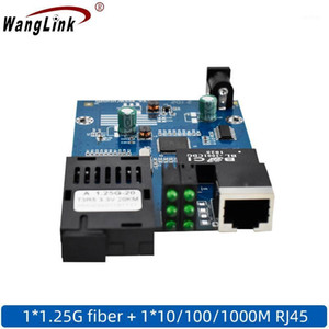 Wanglink pcba ethernet Optical Fiber Media Converter Fiber Transceiver 1000M Full PCBA with module1