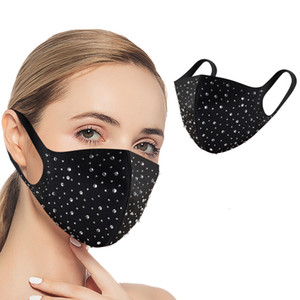 Face Drill Bright Cover Face Mask Washable Reusable Outdoor Cloth Lady Girl Reusable Youth Sports Washable Women Gkifw Duatc