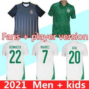 2020 2021 Argelia Mahrez Home Soccer Jerseys 20 21 Argelia Dos estrellas Freghouli Bennacer Football Shirts Maillot de uniformes de pies