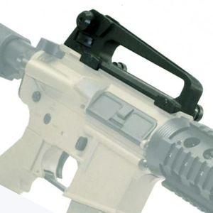 AR15 Metall abnehmbarer schwarzer Tragegriff Dual-Aperturen A2 Rückansicht und Picatinny Rail Combo Mount für M4 M16 Jagdteile