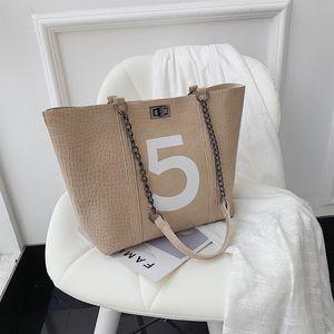 New Luxuryflash Women Handbag Number Chain Tote Bag Pattern 2021 Wild HBP Designers 5 Female Shoulder Fashion Wholesale Autumn Crocodil Hpto