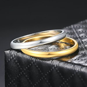 Titanium Steel Rose Gold Anti-allergy Smooth Simple Wedding Couples Rings Bijouterie for Man or Woman Gift Jewellry R830