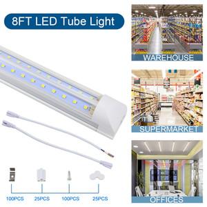 Shop light Cooler Door LED Integrated Tube 4FT 5FT 6FT 8FT LED T8 72W LED Tube Light V Shape Fluorescent Tubes Lights
