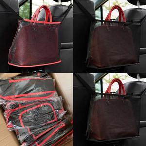 Çok fonksiyonlu katlanır çanta örgü bez araba sandalye net cepler retiküler çuval kırmızı siyahlar çokgen katlanır rahat 7 5KN L2