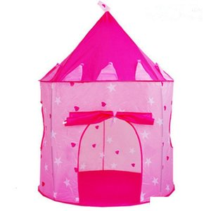 4 Colors Kids Toy Tents Children Folding Play House Portable Outdoor Indoor Toy Tent Princess Prince Castle Cubby Playhut