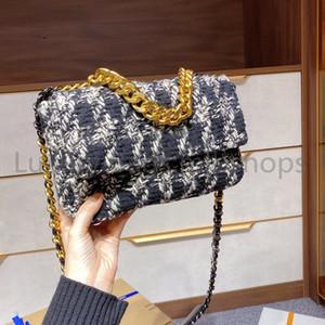 Высочайшее качество 2021 Новый лучший CC Письмо роскошный дизайнер мода ткацкий клапан Сумка Crossbody сумки шерстяные сумки цепные каналы женские сумки