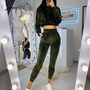 Femmes Mode Sweat à capuche Costume Slim Flanelle Femme 2 Piece Set Costume Sport Automne Loisirs Jogging 2 pièces Set