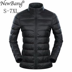 NewBang Brand 5xl 6xl 7XL Plus Women's Down Coat Ultra Light Down Jacket Women Feather Lightweight Windbreaker Warm Thin Coats LJ201124