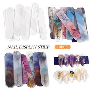 10pcs False Nails Tips Display Mostrando Shelf Riutilizzabile Nail Art Stand Supporto per scheda Pratica per schede per Gel Polish Salon Tools