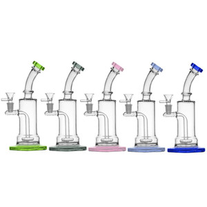 2021 Water Pipes Glass Bong 14mm Female Free Down Stem Oil Dab Rig 10